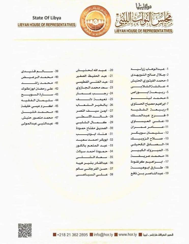 48 نائباً يُدينون تصريحات «لافروف» حول التدخل العسكري في ليبيا