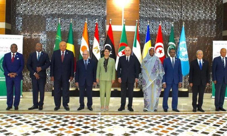 النص الكامل للبيان الختامي لاجتماع دول جوار ليبيا