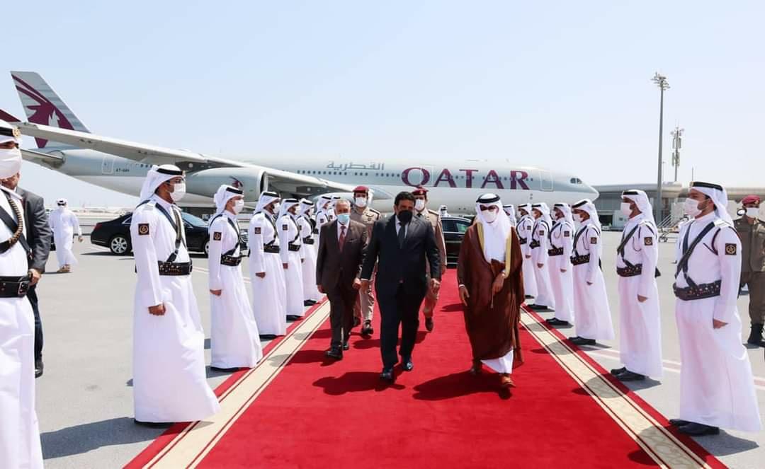 «المنفي» يختتم زيارته للعاصمة القطرية الدوحة