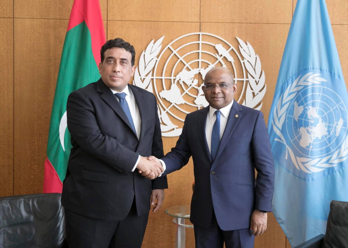 «المنفي» يلتقي رئيس الدورة الـ76 لجمعية الأمم المتحدة