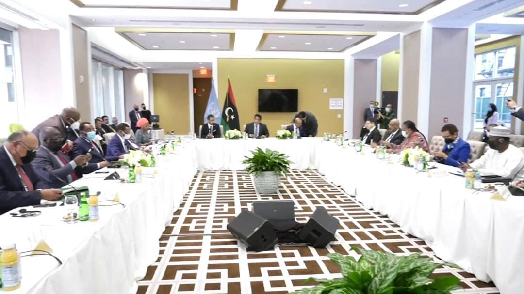 «المنفي» يترأس اجتماع دول جوار ليبيا في نيويورك