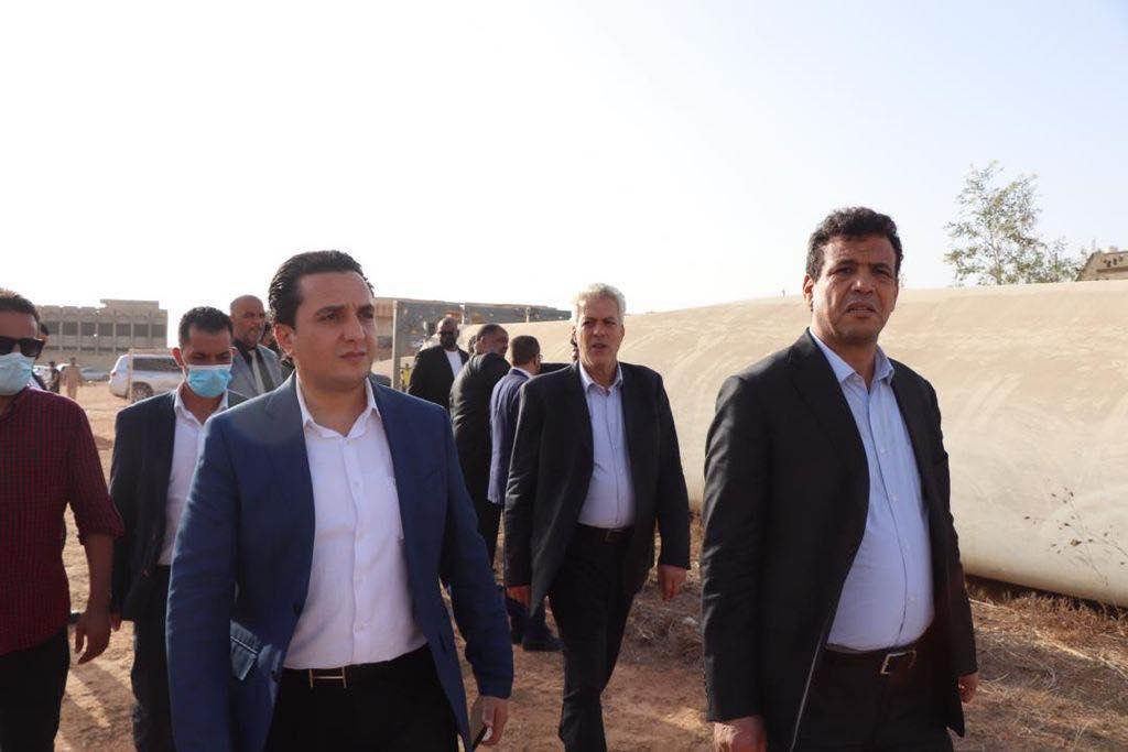 زيارة تفقدية لمشروع توليد الكهرباء عن طريق الرياح بمدينة مسلاتة