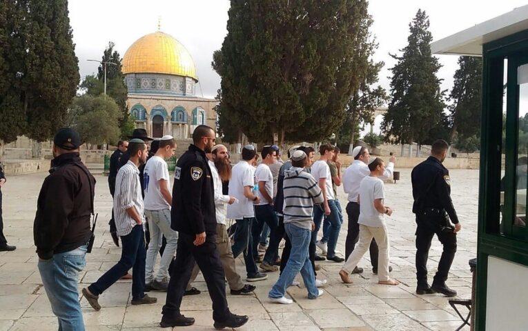 مستوطنون يُواصلون اقتحاماتهم للمسجد الأقصى المُبارك