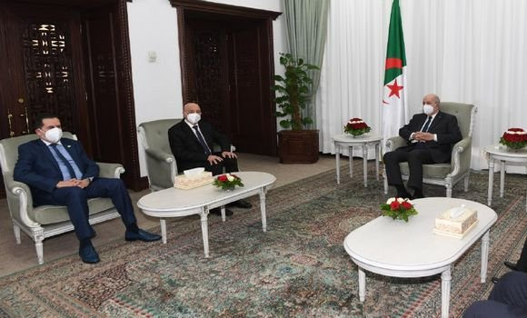 رئيس الجزائر يستقبل رئيس مجلس النوّاب الليبي