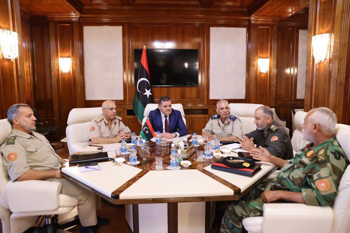 «الدبيبة» يلتقي أعضاء اللجنة العسكرية 5+5