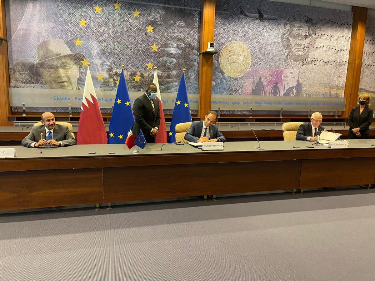 قطر تُوقع اتفاقية شاملة للنقل الجوي مع الاتحاد الأوروبي