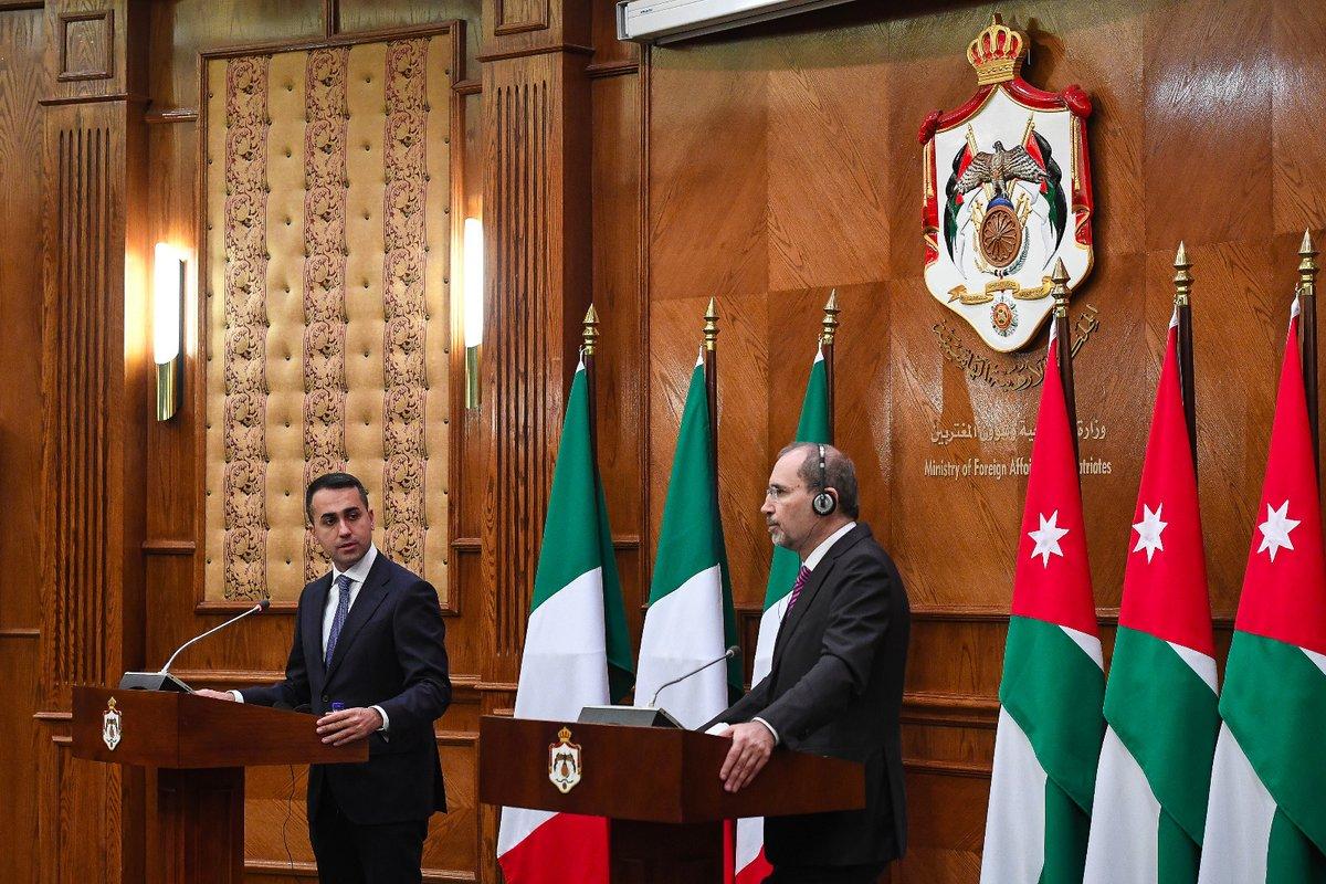 تأكيد أردني إيطالي على دعم جهود إنهاء الأزمة الليبية